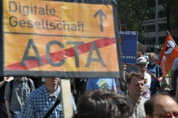 ACTA-Demo (Bild Digitale Gesellschaft [CC BY-SA 2.0], via Flickr)
