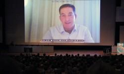 Greenwald beim 30C3 (Bild: Jakob Steinschaden)