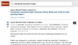 Paper on Quora