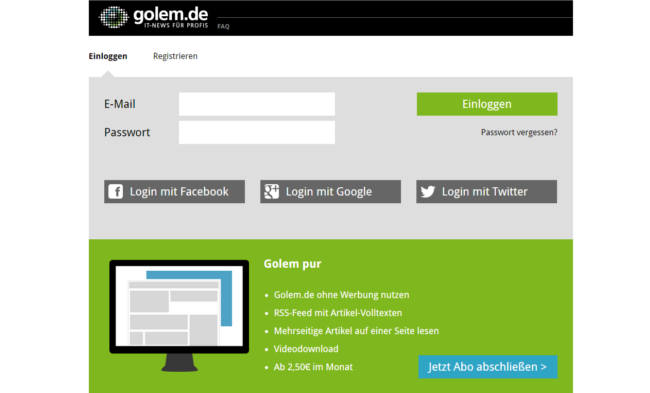 Golem Pur (Screenshot: Daniel Peter, via Golem.de)