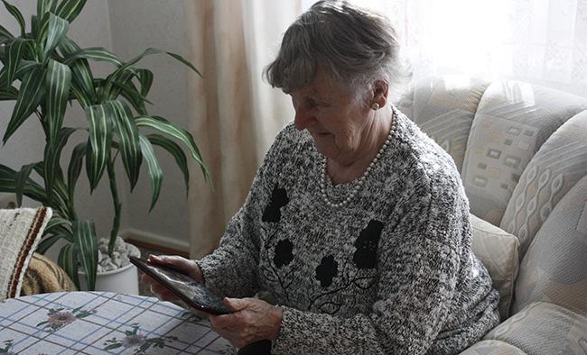 Erster Kontakt mit Tablet