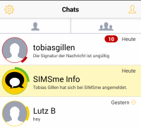 Deutsche Post SIMSme