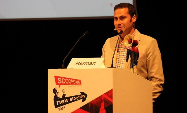 Internationale Speaker auf dem Scoopcamp 2014: Burt Herman (Bild: Tobias Schwarz/Netzpiloten, CC BY 4.0)