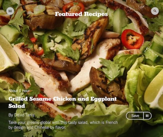 Cooking App der New Yotk Times auf dem iPad