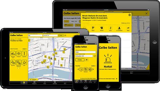 Gelbe Seiten App