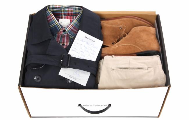 Eine Box von Outfittery, wie sie Kunden bekommen (Bild: Outfittery)