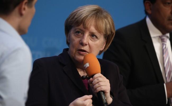 Bundeskanzlerin Angela Merkel bei der #cnight (Fotograf: Tobias Koch, www.tobiaskoch.net)