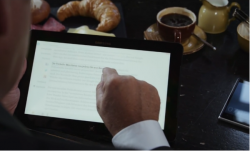Tablet am Frühstückstisch (Bild: Microsoft)