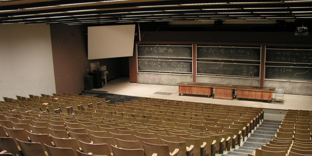 Lecture Lecture (adapted) (Image by Alan Levine [CC0 Public Domain] via Flickr)