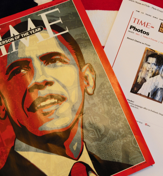 TIME Magazine; Person of the Year, Greg's Art and My Photo Online (adapted) (Image by Tony Fischer [CC BY 2.0] via Flickr)