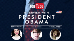 Ein Interview mit Barack Obama auf YouTube (Bild: YouTube)