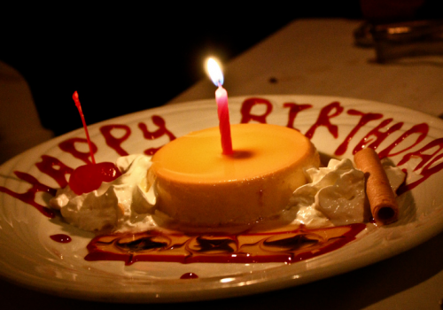 Birthday Flan (adapted) (Image by Basheer Tome [CC BY 2.0] via Flickr)