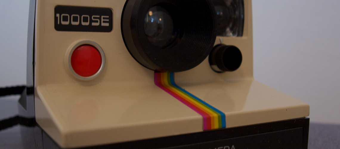 Polaroid Camera (like Instagram-Icon) (adapted) (Image by Adrian Korte [CC BY 2.0] via Flickr)