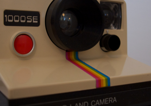 Polaroid Camera (like Instagram-Icon) (adapted) (Image by Adrian Korte [CC BY 2.0] via Flickr)