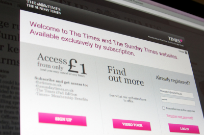 The Times paywall (adapted) (Image by The Sociable [CC BY-SA 2.0] via Flickr)