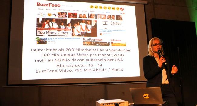 Vortrag von Juliane Leopold über BuzzFeed (Bild: Alexandra von Heyl/Netzpiloten, CC BY 4.0)