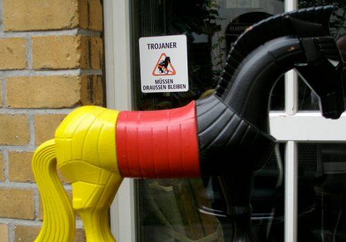 Troians keep out! (adapted) (Image by Martin aka Maha [CC BY-SA 2.0] via Flickr)