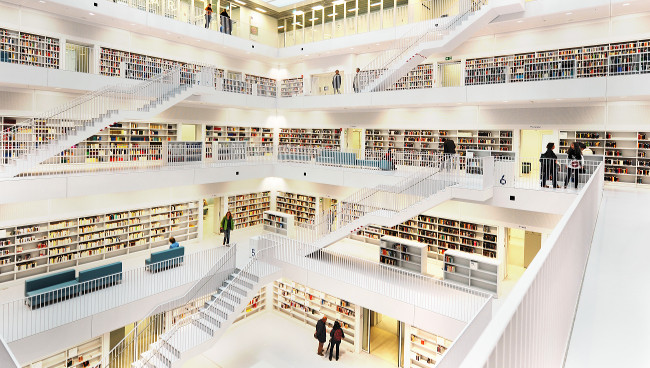 """""""Bibliothek_Stuttgart_005"""" (Adapted) by Rob124 (CC BY 2.0)"""