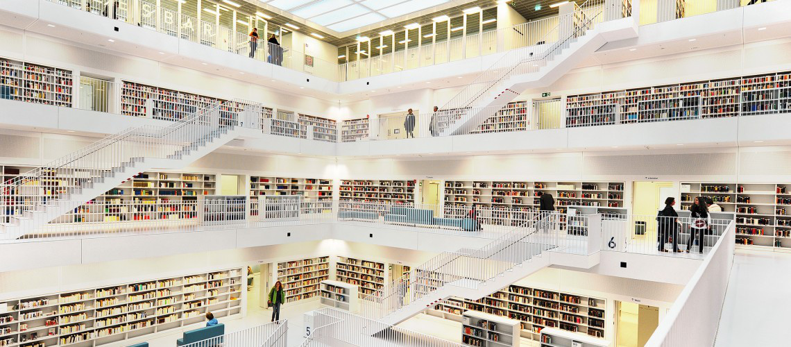Bibliothek_Stuttgart_005 (adapted) (Image by Rob124 [CC BY 2.0] via Flickr)