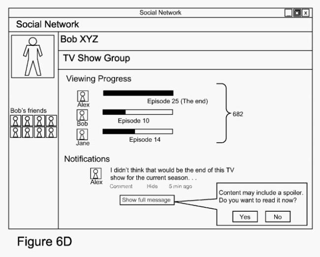 Eine Skizze von Googles Patent gegen Spoiler.