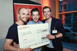 Die Familonet-Gründer beim Webfuture Award 2014 by Jim Gramming/ nextMedia.Hamburg