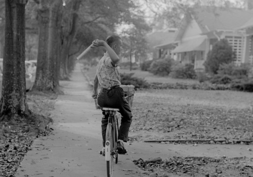 Paperboy in 1963 (image (adapted) by Joyner Library at East Carolina University)