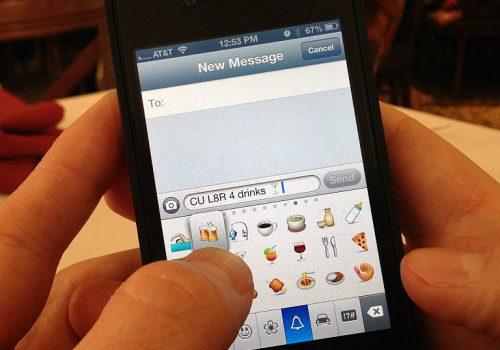 Texting Emoji (adapted) (Image by Intel Free Press [CC BY-SA 2.0] via Flickr)