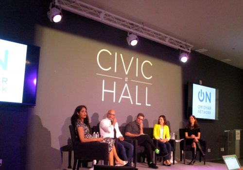 Building the Business of Civic Tech at Civic Hall, April 2015 (adapted) (Image by Daniel X. O'Neil [CC BY 2.9] via Flickr]