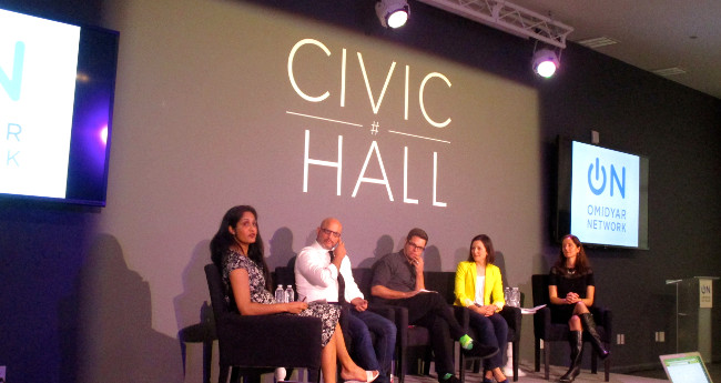 Building the Business of Civic Tech at Civic Hall, April 2015 (adapted) by Daniel X. O'Neil (CC BY 2.0) via Flickr