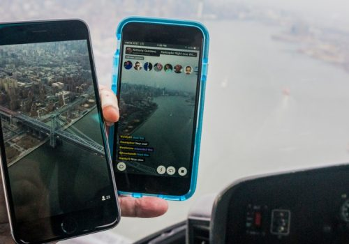 Meerkat App and Periscope App from Helicopter over New York City (adapted) (Image by Anthony Quintano [CC BY 2.0] via Flickr)