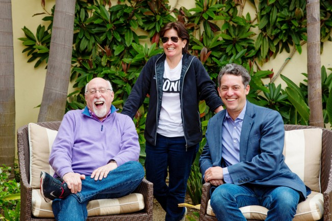 ReCode's Walt Mossberg and Kara Swisher with Vox Media CEO Jim Bankoff before the start of the Code Conference in Rancho Palos Verdes (Image: Kendrick Brinson/The New York Times)