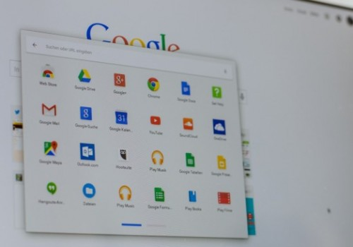 Desktop des Toshiba Chromebook mit Chrome OS