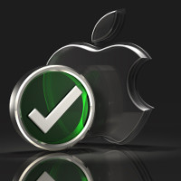 Apple Logo and Checkmark Symbol (Image by: C_osett [CC BY 2.0] via Flickr)