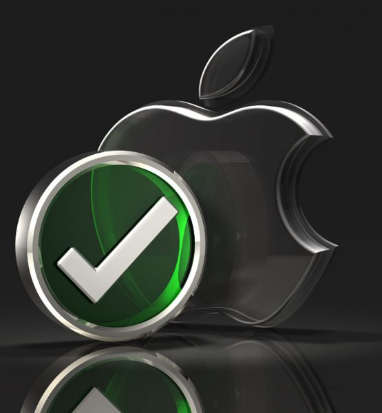 Apple Logo and Checkmark Symbol (adapted) (Image by C_osett [CC0 Public Domain] via Flickr)