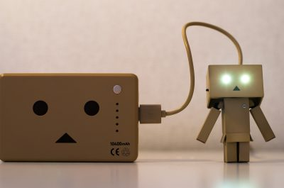 Recharging Danbo Power (adapted) (Image by Takashi Hososhima [CC BY-SA 2.0] via Flickr)