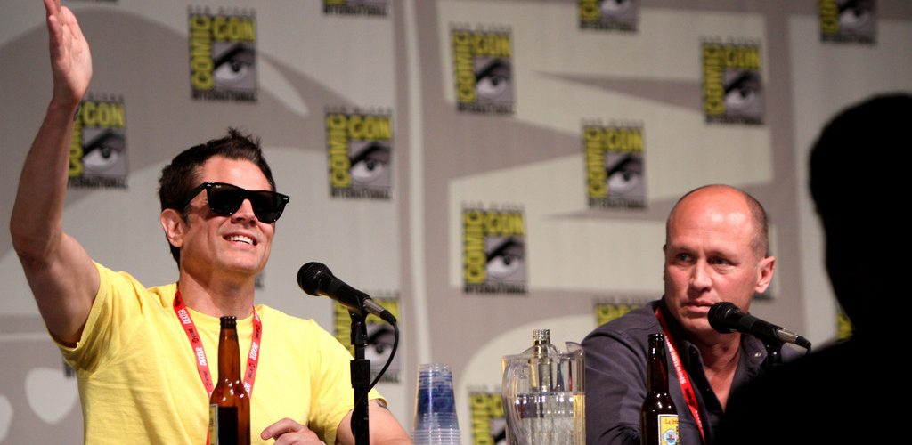 Johnny Knoxville & Mike Judge (adapted) (Image by Gage Skidmore [CC BY-SA 2.0] via flickr)