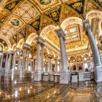 Library of Congress - handheld 3 exposure HDR (Image by m01229 [CC BY 2.0] via Flickr)