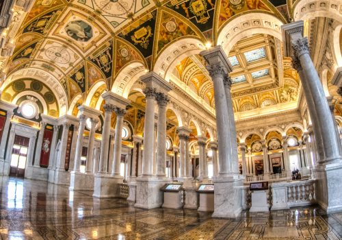 Library of Congress - handheld 3 exposure HDR (adapted) (Image by m01229 [CC BY 2.0] via Flickr)