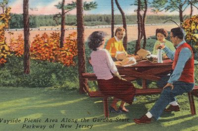 Typical wayside picnic area along the Garden State Parkway of New Jersey (adapted) (Image by Boston Public Library [CC BY 2.0] via Flickr)