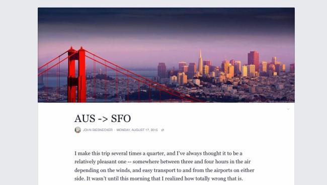 John Biesnecker verfasste einen der ersten Blogpost mit Facebooks neu designtem Notes