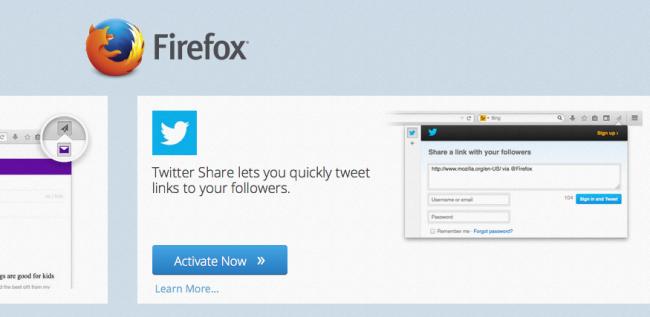 Add-on von Twitter für Firefox