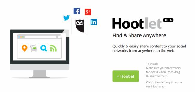 Add-on von Hootsuite namens Hootlet