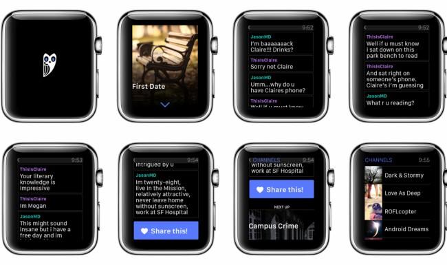 Die Literatur-App Hooked wird auch auf einer Smartwatch funktionieren.