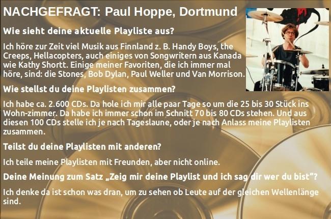 Nachgefragt: Paul Hoppe