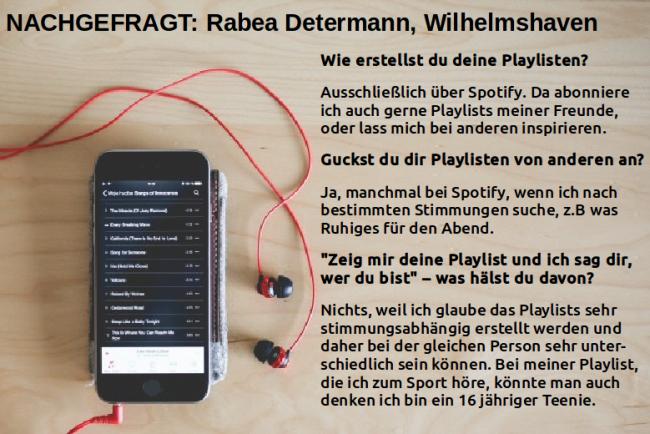 Nachgefragt: Rabea Determann