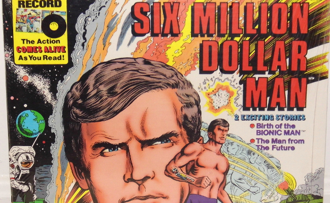 Vintage LP Vinyl Record Collection - Six Million Dollar Man, Book & Record Set By Peter Pan Records, Copyright 1977 Universal City Studios, Inc.( Image by Joe Haupt [CC BY-SA 2.0] via Flickr)