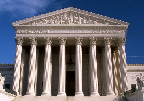 Supreme Court Building (adapted) (Image by Jeff Kubina [CC BY-SA 2.0] via Flickr)