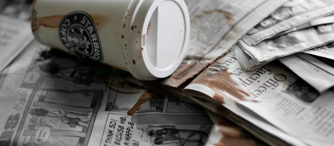 starbucks spill (adapted) (Image by Eric [CC BY 2.0] via Flickr)