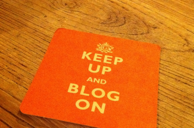 Keep up and blog on (adapted) (Image by Alexander Baxevanis [CC BY 2.0] via Flickr)