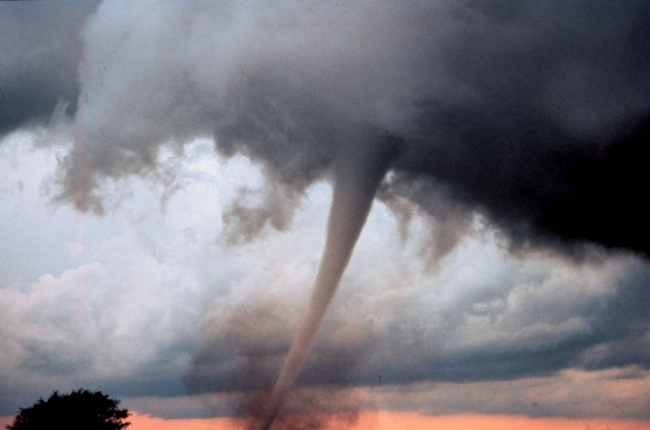 """Occluded mesocyclone tornado5 - NOAA"" (adapted) by Modern Event Preparedness (CC BY 2.0)"